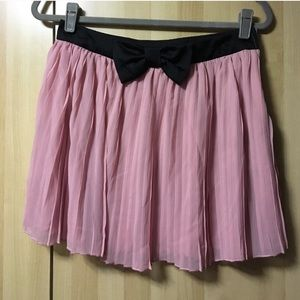 ⚠️2 for $13⚠️ Chiffon Bow Pleated Skirt